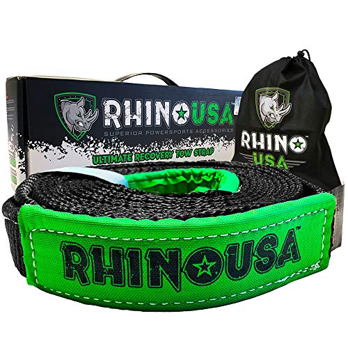 Rhino USA Recovery Tow Strap 2in x 20ft