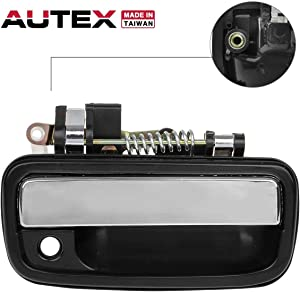 AUTEX 769MX Chrome Exterior Front Right Door Handle Passenger Side Compatible with Toyota Tacoma 1995-2004 Replacement for Toyota Hilux 2004-2012 Door Handle