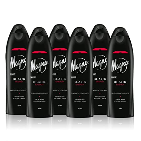 Magno – Gel de Ducha Black Energy 550ml (pack de 6)