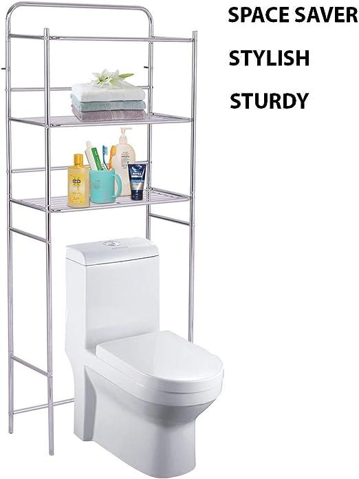 3-Tier Over Toilet Space Saver Bathroom Standing Storage Shelf Rack Organizer US