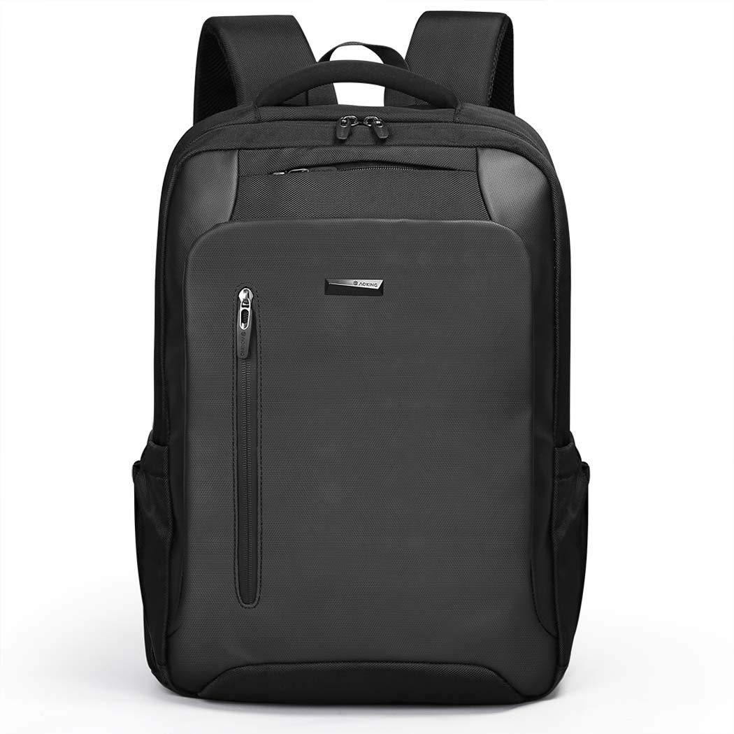 メンズバックパックビジネスコンピュータバックパック大容量旅行バックパックバッグ  Black B07HD6QYKK