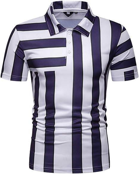 X-i^i - Camisa de Manga Corta para Hombre, diseño de Rayas ...