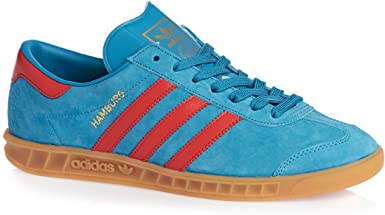 adidas Mens Hamburg Trainers In Solar Blue and Red (UK 13 ...