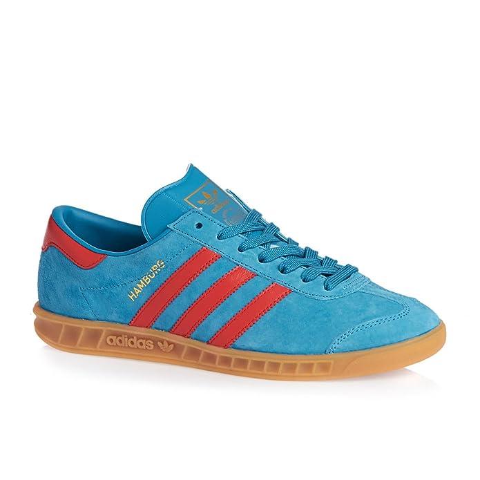 adidas Hamburg Schuhe Damen Herren Blau Rot