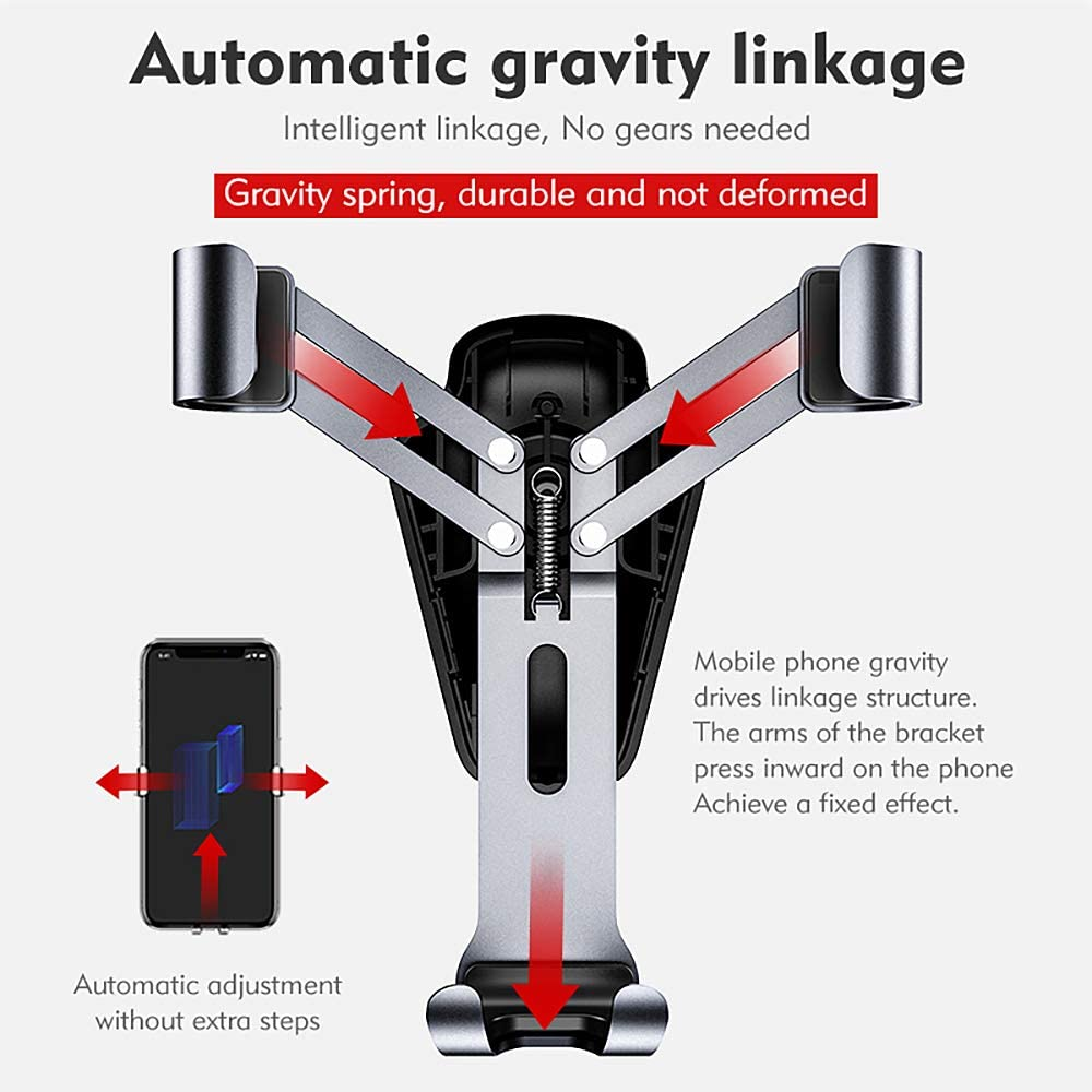 BENKS H11 Gravity Induction Supporto Veicolo per Auto Aurora Grey//Deep Grey Huawei Mate 20 PRO P20 P10 Samsung S9 S8 Note Supporti per Auto per Smartphone