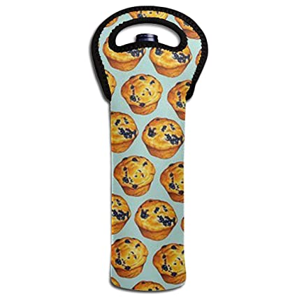 0c38658534 Amazon.com: Blueberry Muffin Wine Tote Carrier Bag/Purse for Champagne,  Wine, Water Bottles: Home & Kitchen