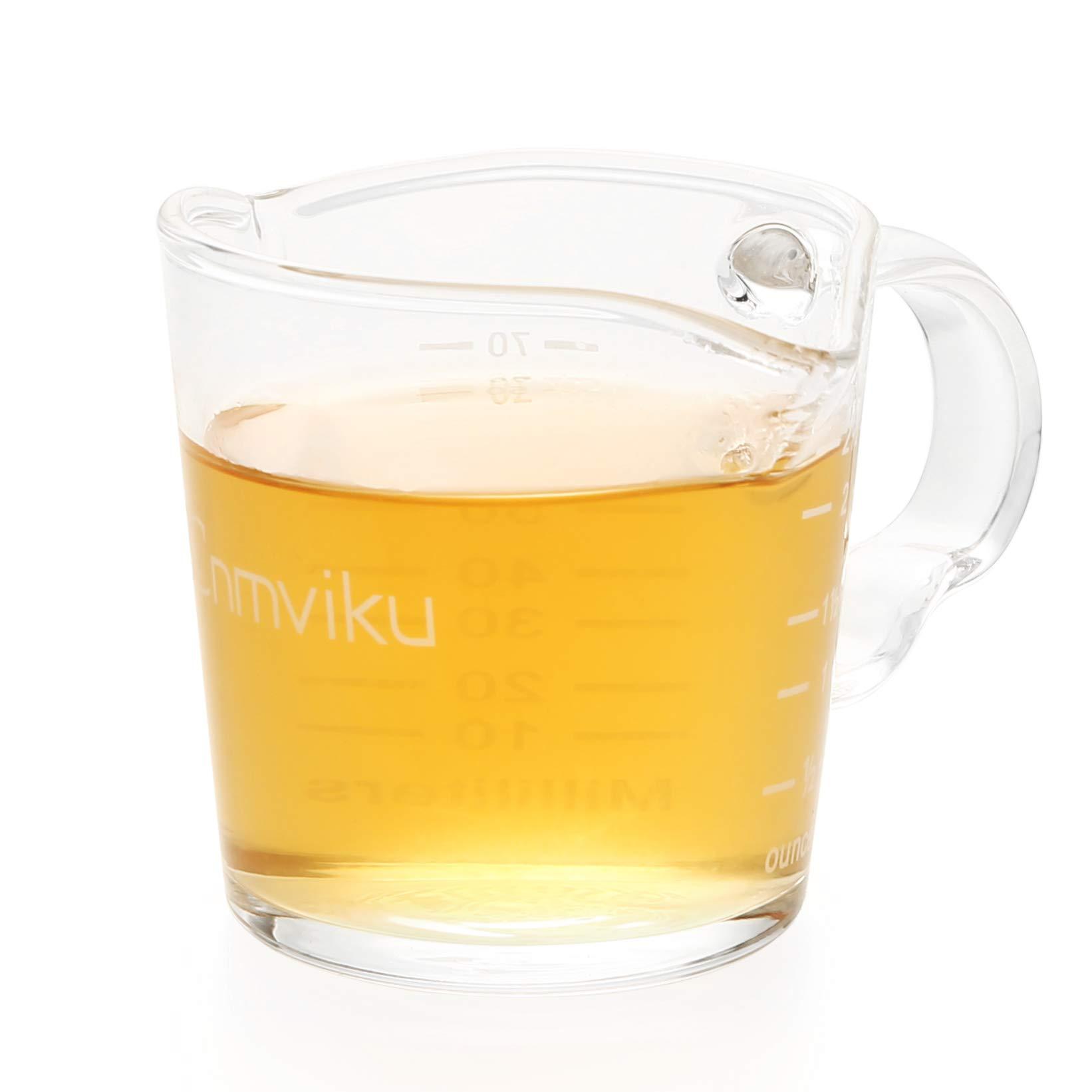 Espresso Shot Glass 3OZ Triple Spout Barista Shot Pitcher Double Spouts Convenient Pouring Handle By BCnmviku (1)