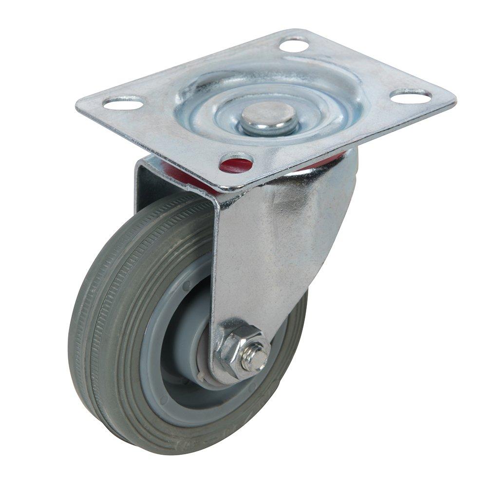 FIXMAN 234808 Rueda giratoria de goma 75 mm, 50 kg
