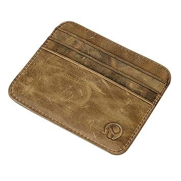 Etbotu - Mini cartera de piel, tamaño pequeño, con tarjetero, monedero, certificados: Amazon.es: Hogar