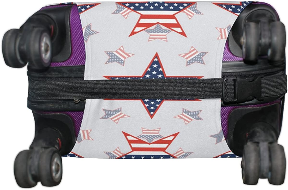 GIOVANIOR Patriotic Stars Luggage Cover Suitcase Protector Carry On Covers