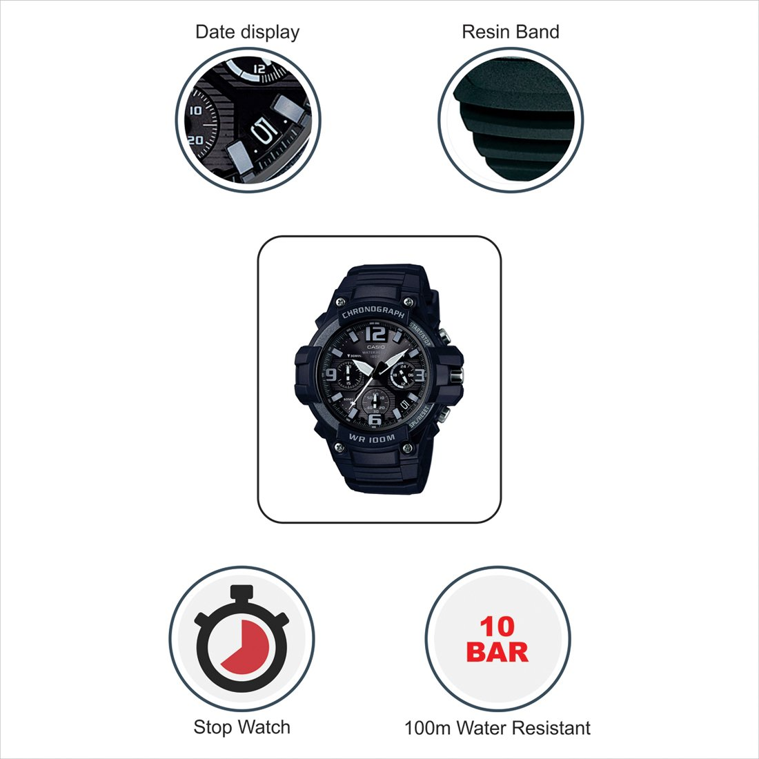 Buy Casio Youth Analog Black Dial Mens Watch Mcw 100h 1a3vdf Ad213 Edifice Efr546bkg1av Online At Low Prices In India