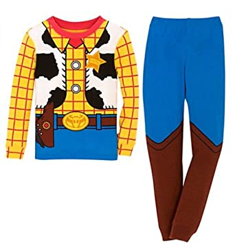 Amazon.com  Disney Store Boys Woody Costume PJ Pals Toy Story  Clothing d2045cdaf