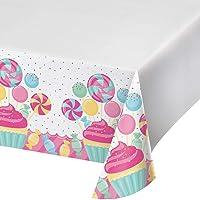Creative Converting 324827 - Funda de plástico para mesa (122 x 223 cm), color blanco