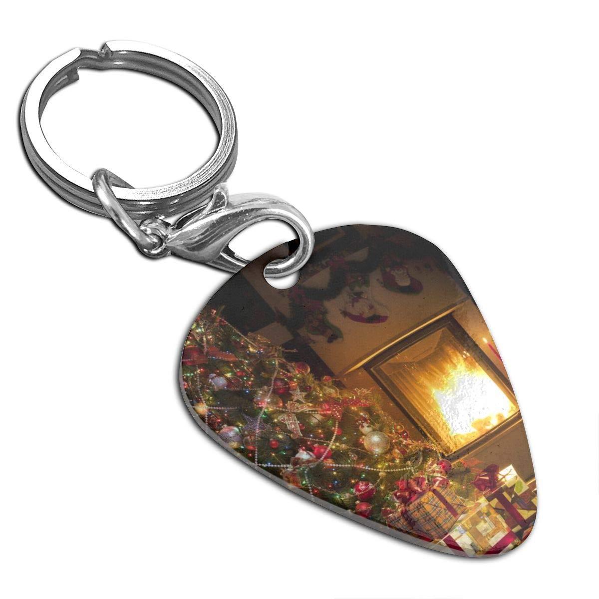 Christmas Tree And Christmas Custom Guitar Pick Pendant Necklace Keychain