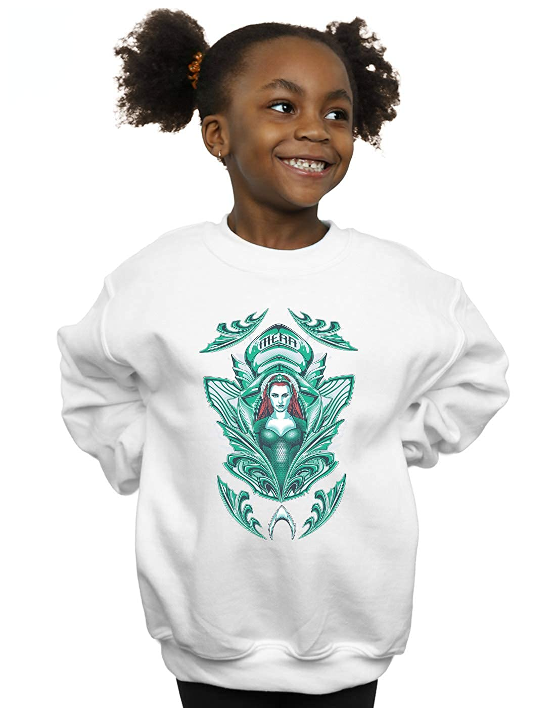 DC Comics Girls Aquaman Mera Crest Sweatshirt