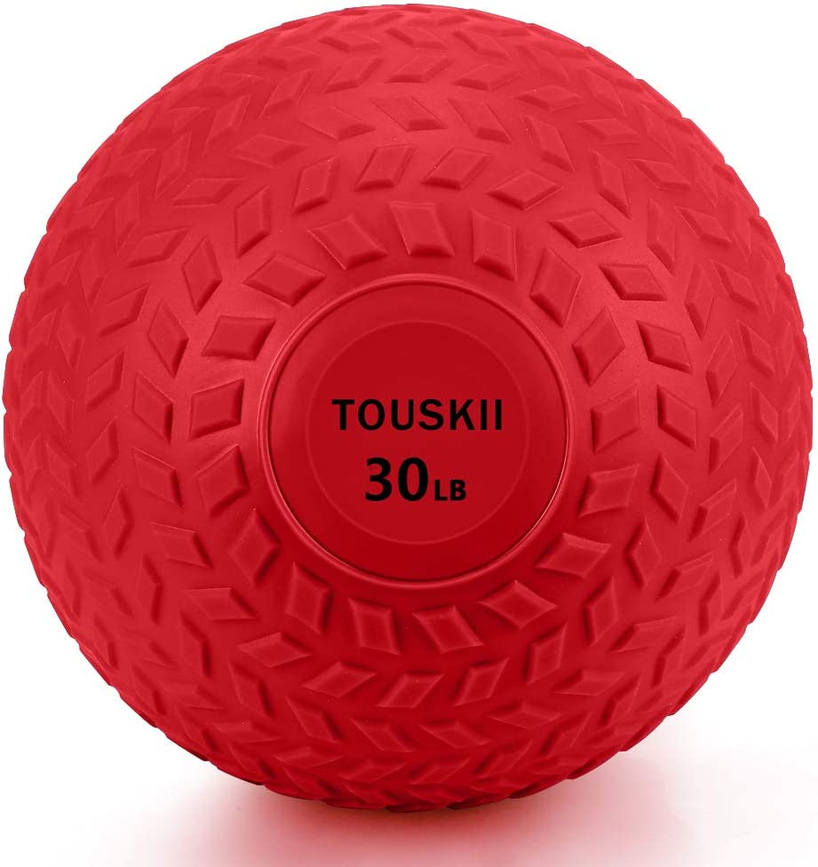 TOUSKII Slam Ball for Strength, Medicine Ball with Strong Grip, Weight Balls for Crossfit Strength & Conditioning Exercises, Available in 10, 15, 20, 30, 40, 50 LB Weight: Sports & Outdoors