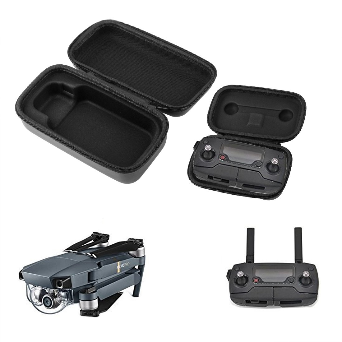 Desel DJI Mavic Pro/Platinum Case PU Leather Mavic Pro Carrying Case Waterproof Shockproof Portable Foldable Storage Bag Travel Case for DJI Mavic Pro Drone Body Remote Controller Transmitter