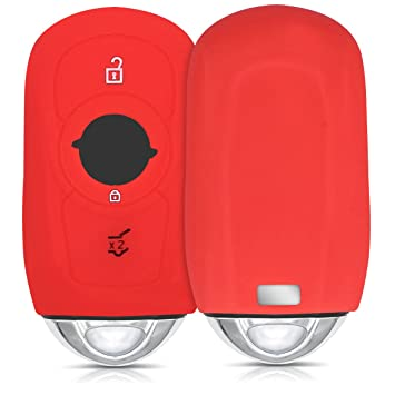 kwmobile Funda de Silicona para Llave Smart Key de 3 Botones para Coche Opel (Solamente Keyless Go) - Carcasa Protectora [Suave] de [Silicona] - Case ...