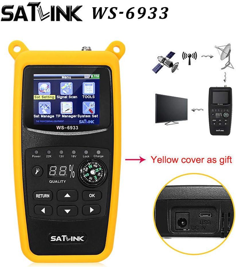 Satlink WS-6933 DVB-S2 Digital Satellite Signal Finder Meter LCD