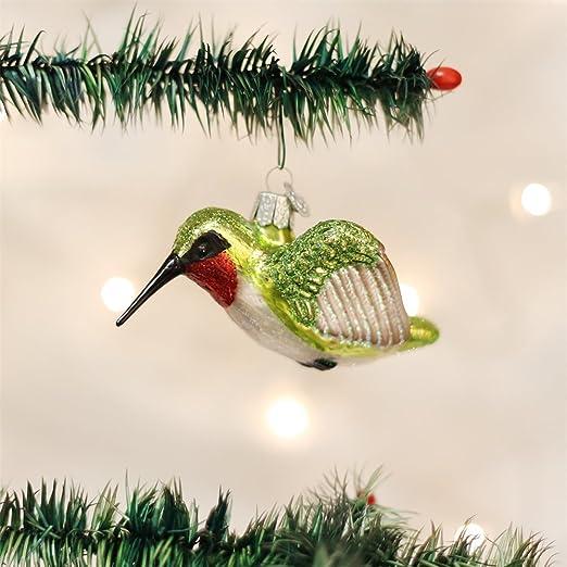 Amazon.com: Old World Christmas Hummingbird Glass Blown Ornament ...