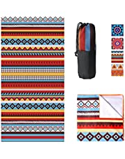 """Susimond Microfiber Beach Towel, Large (32""""x63"""") Oversized Quick Dry Pool Towels, Lightweight Compact Sand Free Beach Towel, Super Absorbent, Perfect for Camping, Travel, Beach, Swimming"""