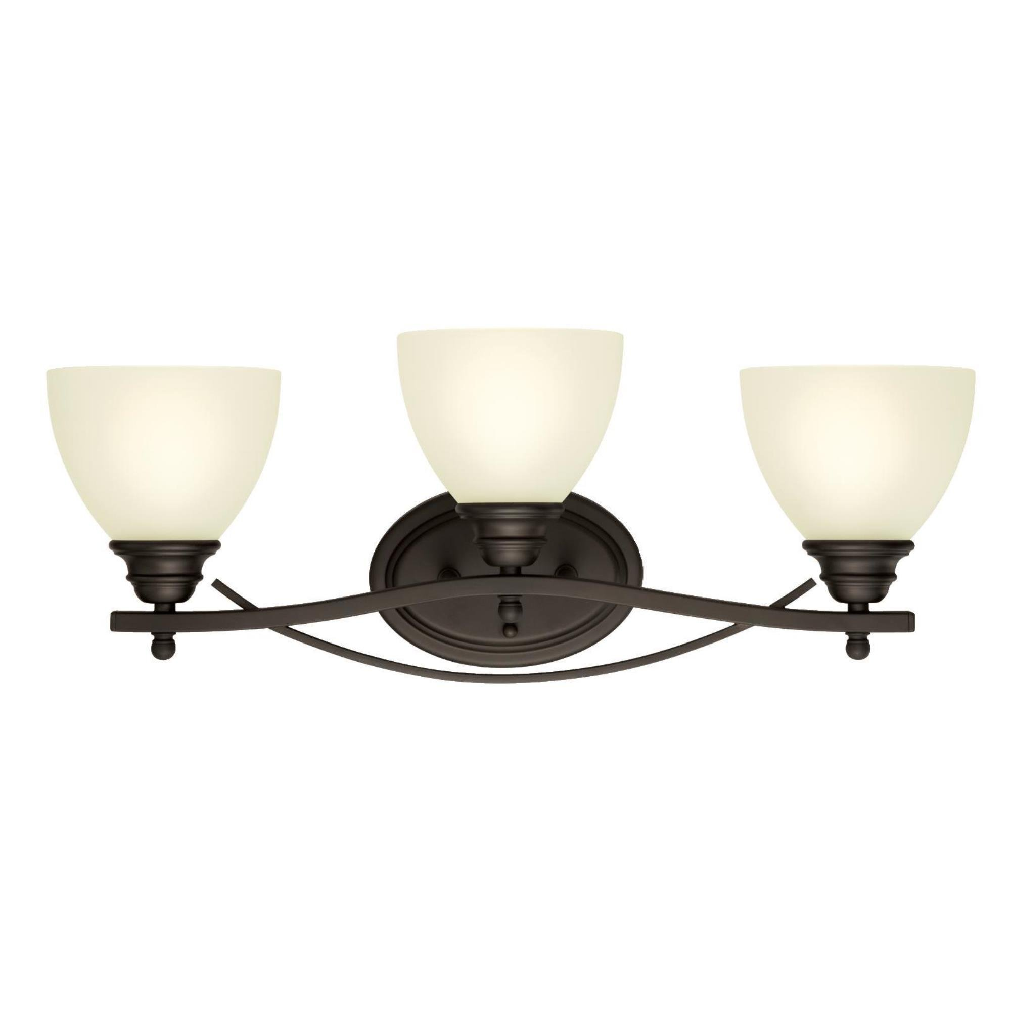Westinghouse 6303400 Elvaston Three-Light Indoor Wall Fixture, Oil Rubbed Bronze Finish with Frosted Glass
