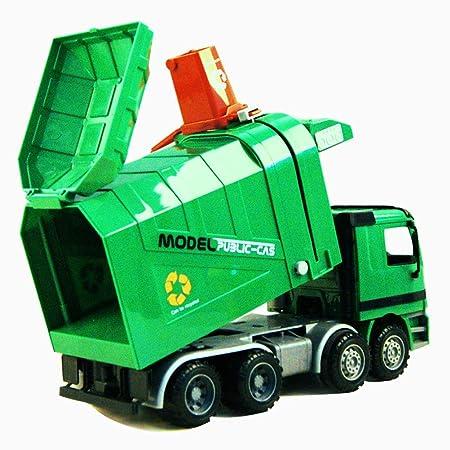 Yeahibaby Children Garbage Truck Sanitation Trucks Toy Car Model