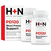 PressureDown120 High Blood Pressure Supplement to Lower BP Naturally-Premium Cardiovascular...