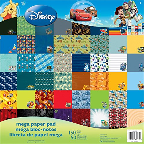 Sandylion Disney Mega Paper Pad, 12 by 12-Inch, Boy