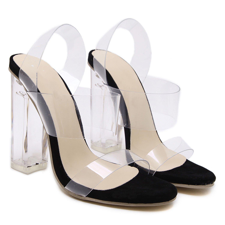 le n ouveau ouveau ouveau loft hommes / femmes chaussures sexy de femme chaussures sandales gladiateur transparent gelée transpa rente au pied d'épaisseur talons talons apparence respectueuse de l'environnement rh1396 de style en suspens b1f0fa