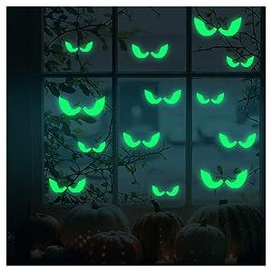 Luminous Sticker, Proboths Creative Removable Luminous Fluorescent Sticker Glow in Dark Decal for Halloween Home Wall Window Decoration Peeping Eyes