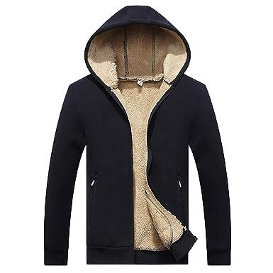 bb989c69ceca Amazon.com  NRUTUP Men s Active SweatShirts Warm Hoodie Velvet ...