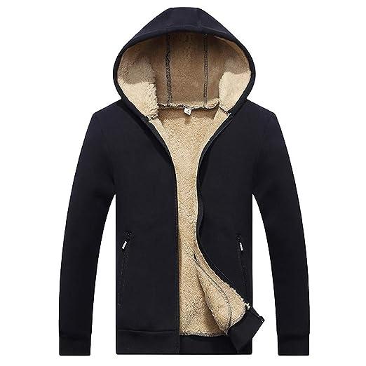 75cd2a3efcf4 TAGGMY Jacket Men Fashion Winter Warm Casual Hoodie Velvet Zipper ...