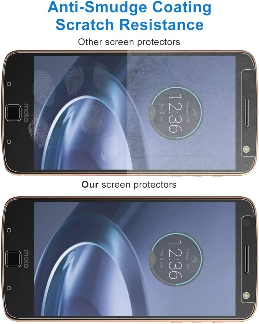 GzPuluz Glass Protector Film 50 PCS 0.26mm 9H 2.5D Tempered Glass Film for Motorola Moto Z Force
