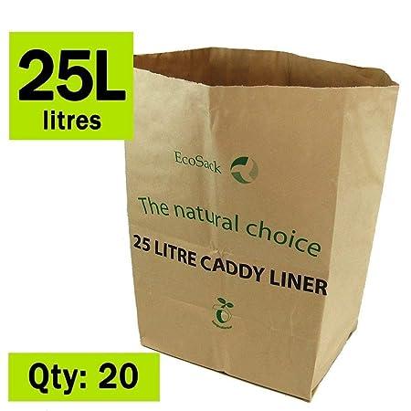 25 Litre x 75 bags 25L 100/% Biodegradable /& Compostable Kitchen Kerbside Bin