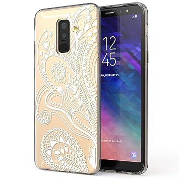 NALIA Funda Carcasa Compatible con Samsung Galaxy A6 Plus, Motivo Design Movil Protectora Ultra-Fina Silicona Cubierta, Goma Estuche Telefono Bumper ...