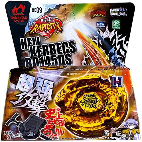 [Kimsowashop Hades Kerbecs / Hell Kerbecs Metal Masters Beyblade NIP + Launcher] (Hades Child Costume)
