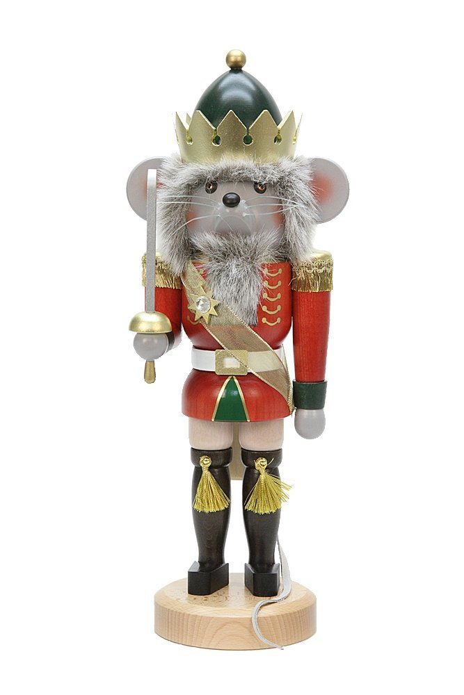 German Christmas Nutcracker Mouseking - 39,0 cm / 15 inches - Christian Ulbricht by Ulbricht