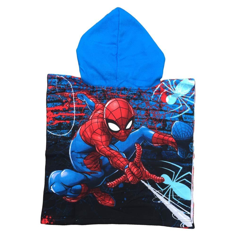50x100 SE1761//1 PONCHO Mare Spiderman Uomo Ragno Marvel Asciugamano Accappatoio Poliestere CM