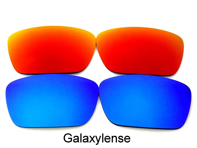 1684f83fb6e Image Unavailable. Image not available for. Color  Galaxy Replacement Lenses  for Oakley Fuel Cell Red Blue Color Polarized ...