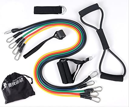 Amazon.com : Fitness pull rope elastic rope strength resistance ...