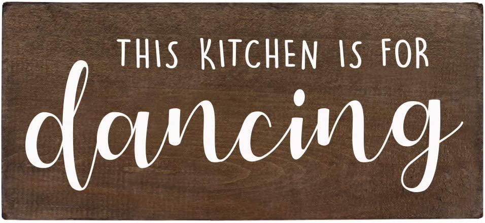 Amazon Com This Kitchen Is For Dancing Sign Farmhouse Wall Decor 6x12 Rustic Wood Decoration With Saying Home Kitchen