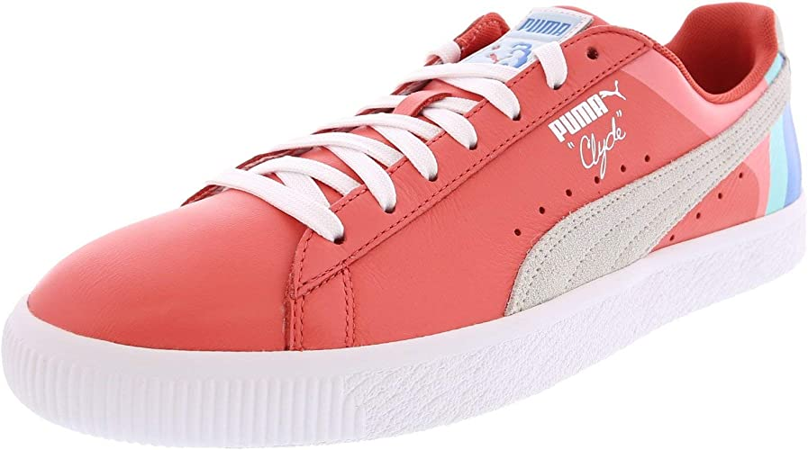 PUMA Men's Suede V2 Pink Dolphin Ankle High Fashion Sneaker