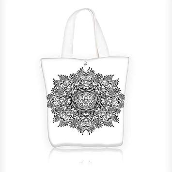 Bolsa de tela con cremallera, estampada floral, diseño de ...