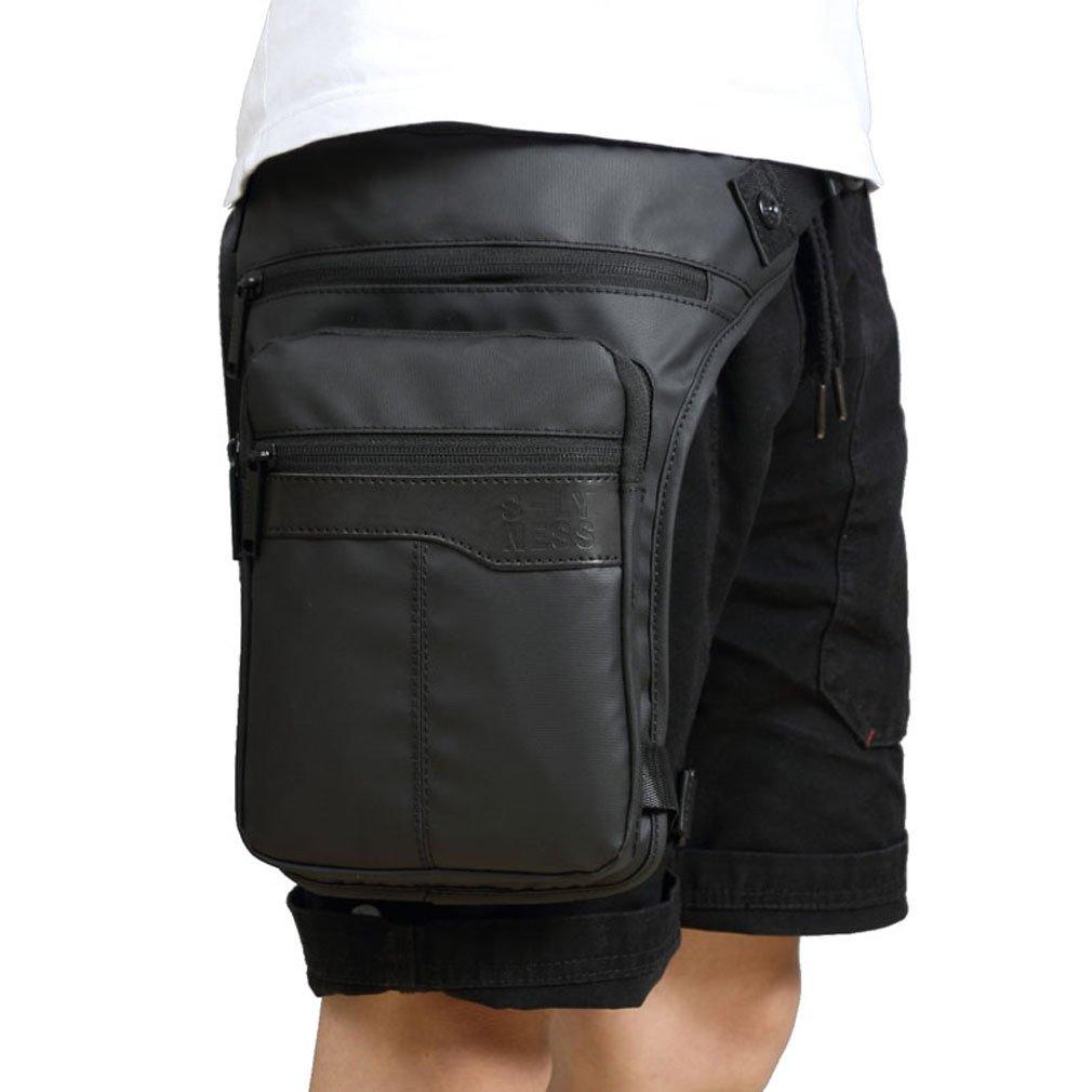 Homme étanche Oxford Tour de taille sac de jambe goutte jambe Tour de taille pour moto tactique Sac NEUF xieben