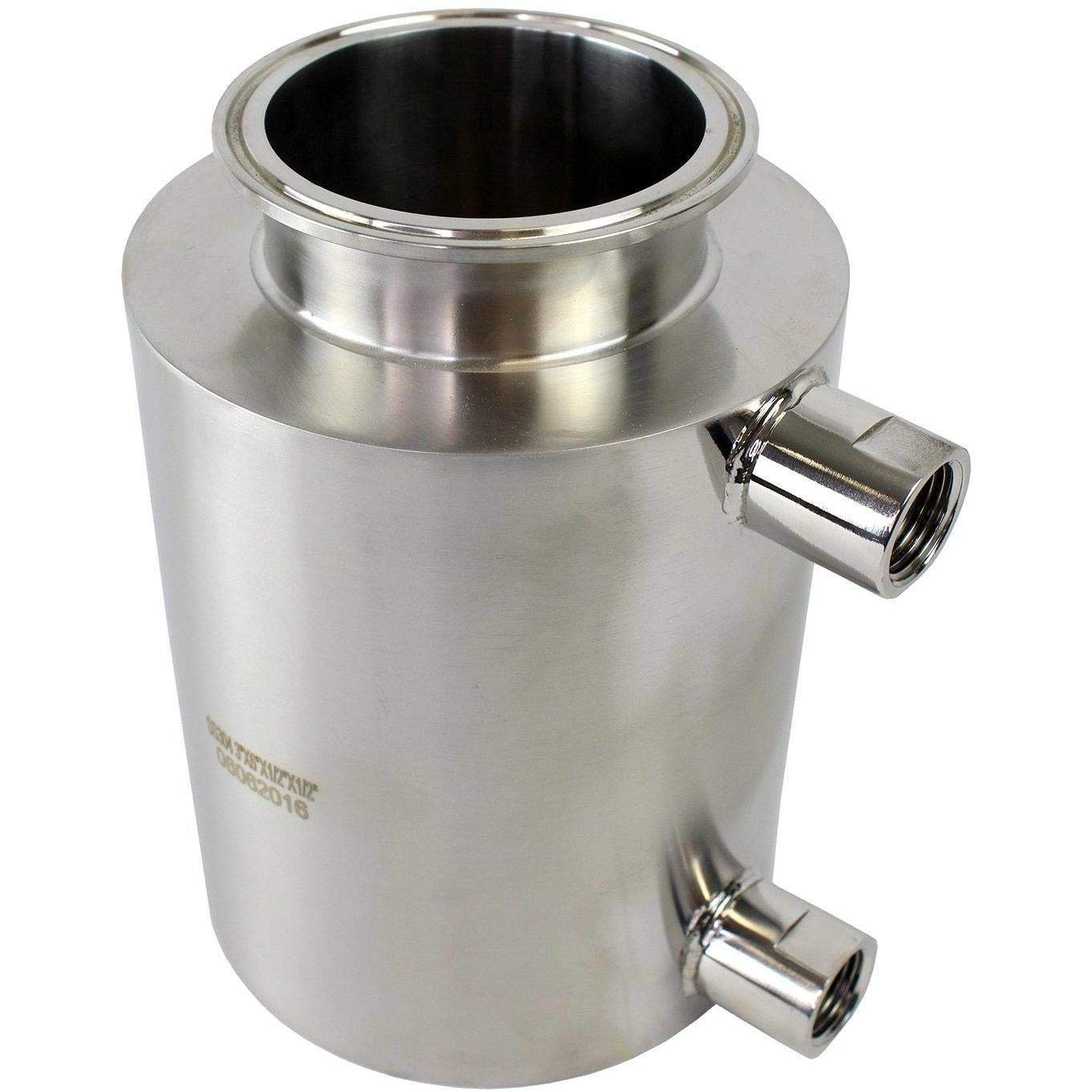 BVV 6 Inch Tri-Clamp x 4 Inch Deep Fully Jacketed Containers