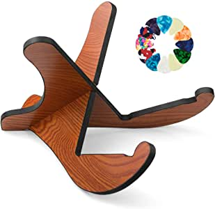 Guitar Stand,Binken Universal Acoustic Guitar Stand Wooden Guitar Rack with Guitar Picks,Portable Detachable Guitar Holder for Musical String Instrument and Acoustic Classical Bass Guitars