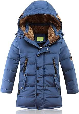 JIANYE Abrigo de Invierno para Niños Chaquetas Invierno Caliente Chaquetas Plumas Espesar Abrigo Plumas con Capucha Abrigo Chaqueta