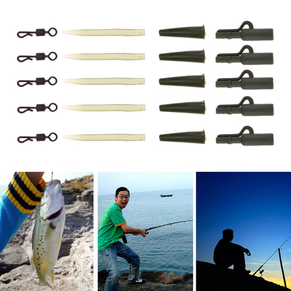Carp Fishing Accessories Lead Clips Kit for Fishing Tackle Equipment Line ToT/_sh