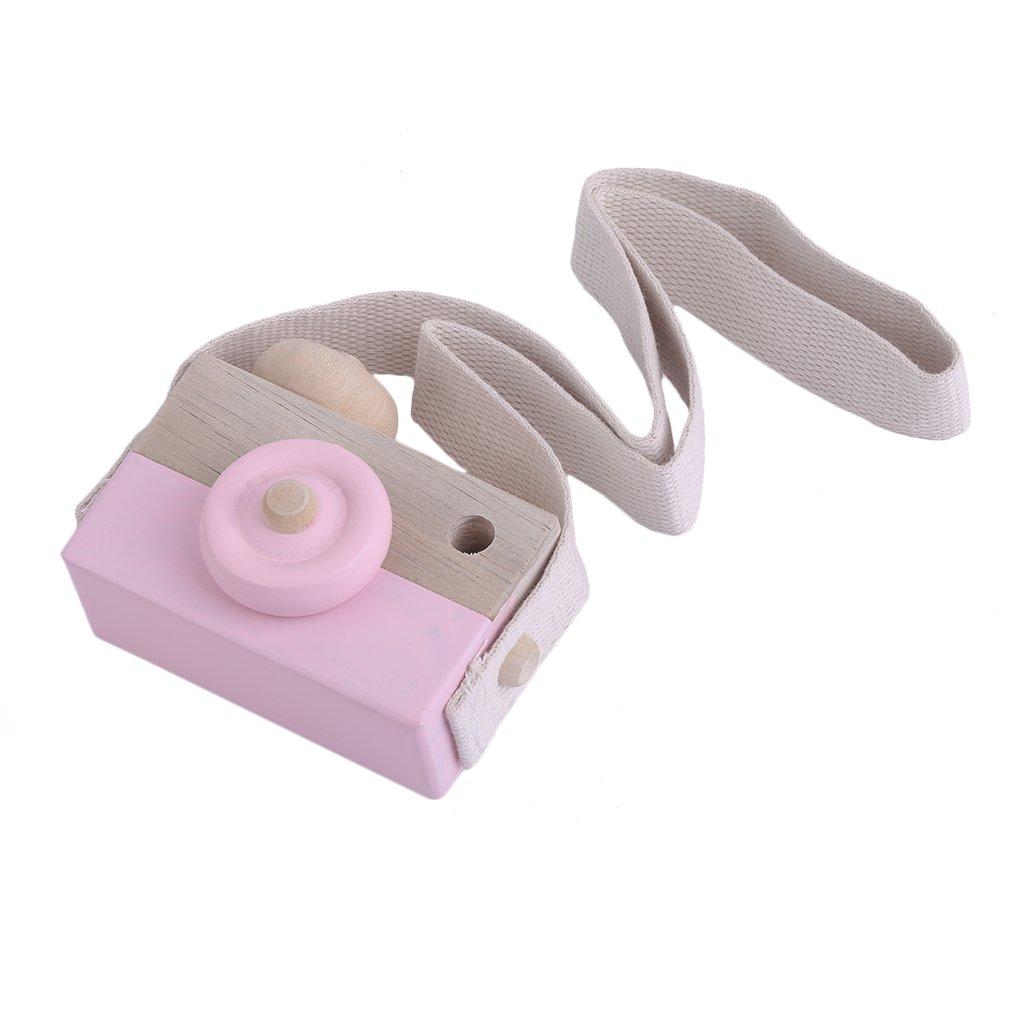 AzuNaisi Madera Mini cá mara de Juguete Kids Room Decor Colgando Juguete Linda Forma de la cá mara para Pink Kids